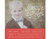 Christmas Mini Session Template, Holiday Mini Session Marketing Board, Winter Photography Marketing Template for Facebook Instagram - AD202