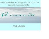 RESERVED For Megan - Doll Cardigan