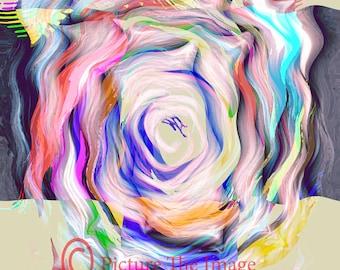"""Summer Blend 18"""" x 12"""" Digital Contemporary Wall Art Print"""
