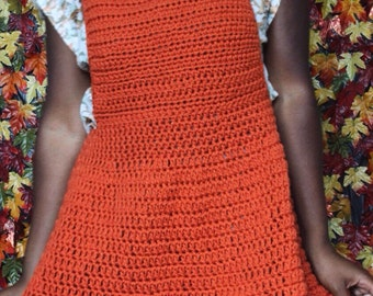 The Pumpkin Patch Overall Crochet Dress. Instant Download!