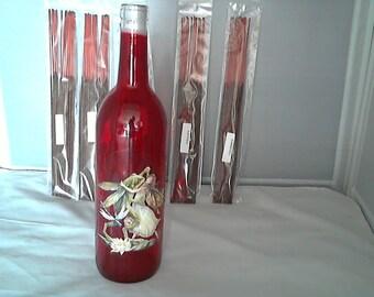 Glass bottle incense holder (Shall We Dance) w/ 100 incense