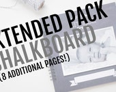 Extended Pack for Chalkboard Baby Book // 8 Additional Pages!