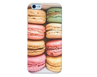 Macaron phone case, Macaron iPhone case, Pastel iPhone case, iPhone 7 case, Paris iPhone case, Gift for her, Pink iPhone case, iPhone 6 case