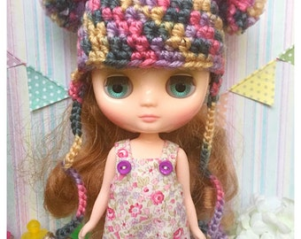 """Middie Blythe Outfit : """"Bubble Boom Set"""" (Dress and Crochet hat)"""