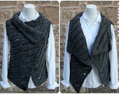 Knitting PATTERN-Jet wrap, sleeveless jacket pattern, cardigan  - Listing131