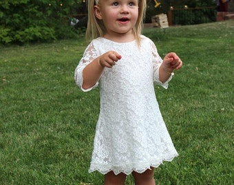The Simply Grace Lace Flower Girl Dress