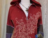 Upcycled....Hag Rags Hoodie....petite small....