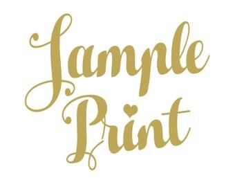 Sample Print Designs