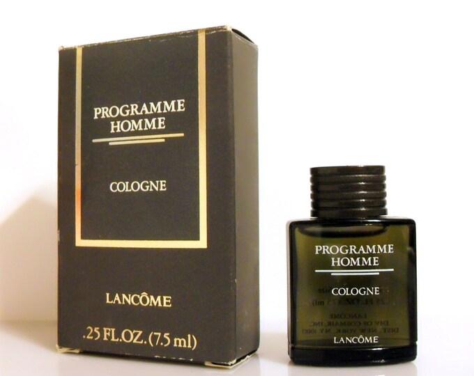 Vintage 1980s Programme Homme by Lancome 0.25 oz Cologne Mini Miniature COLOGNE