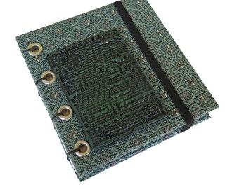 Sage Tapestry Square Coptic Stitched Marker/Sketchbook