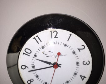 Fantastic Ingraham Kitchen Wall Clock - 1940s