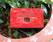 Vintage Mary Esther Tin Chocolate Box - Red, Gold and Black - E J Brach & Sons