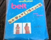 Vintage Spinnerin Needlepoint Belt Kit - Strawberry Design - New in Package