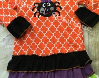 Ghost Halloween Dress - Girls Halloween Dress- Ghost Shirt - Girly Ghost - Ghost dress