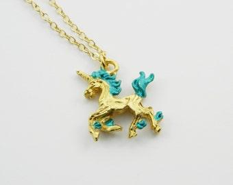 Turquoise Unicorn Necklace
