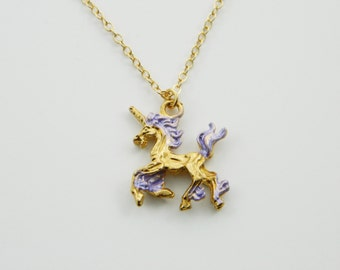 Unicorn Necklace in Lilac