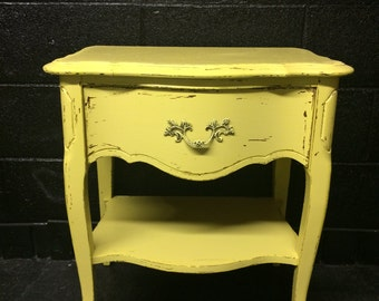Chippy Yellow Nightstand