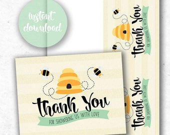 Mommy to Bee: Matching Thank You Card