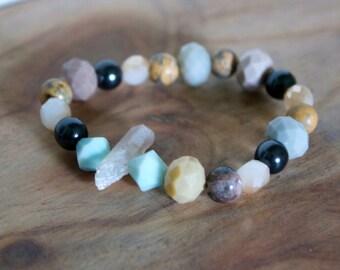 Nicaragua Mission Bracelet // Multi-colored stone bracelet