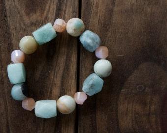 Blue Gemstone Stack Bracelet
