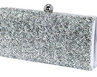 Set of 6 clutches in Gold and Silver, gift for bridesmaids, wedding party, wedding accessories, bridal accessories