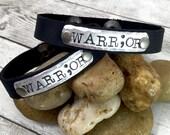 Leather Cuff Bracelet - Warrior Jewelry - Custom Leather Bracelet - Warrior Bracelet