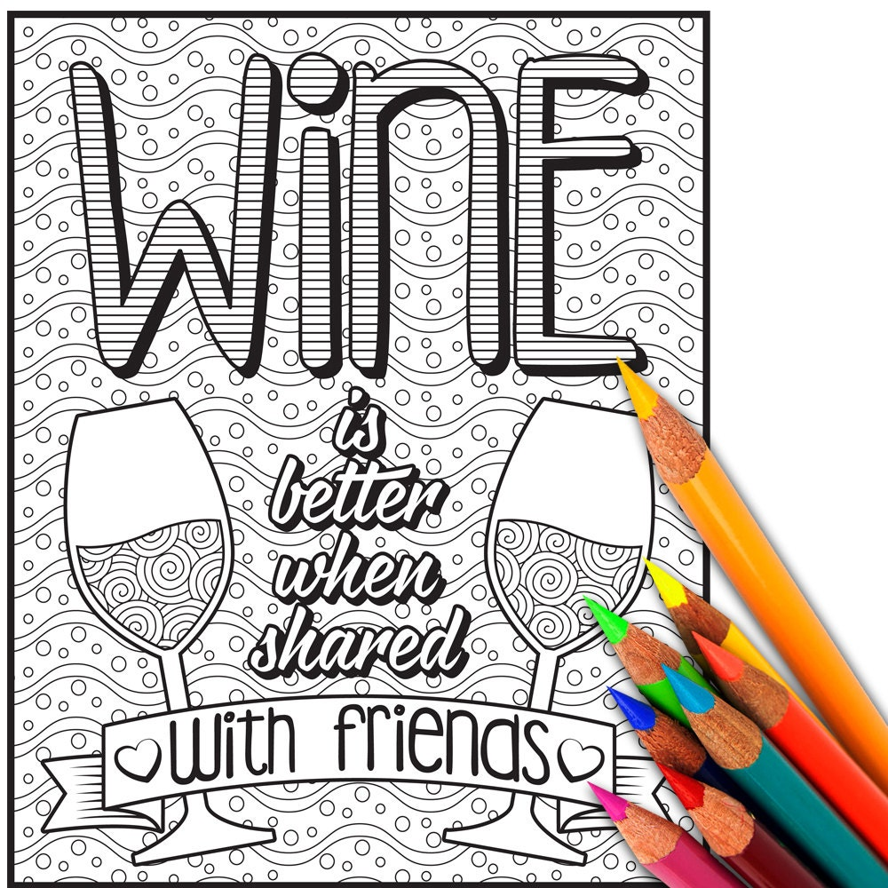 wine coloring page coloring sheet coloring