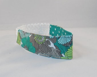 Lovely Blue Floral Fabric Headband