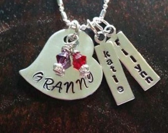 Personalized family necklace.