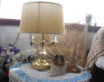 Double Light Candle Stick Brass Table Lamp / NOT INCLUDED In Any Discount or Couon Sales