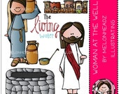 The Woman at the Well clip art - Combo Pack
