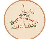 Easter Basket Gift Embroidery Kit Little Bunny Beginner Sewing Project