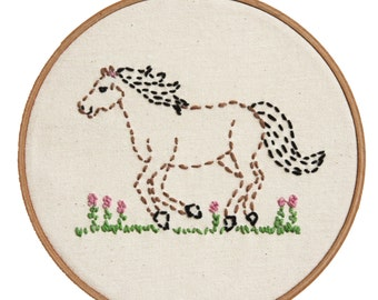 Embroidery Kit Little Horsey Beginner Sewing Project