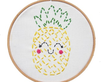 Embroidery Kit Little Pineapple Beginner Sewing Project