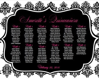 Quinceanera Seating Chart