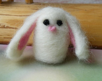 Needle Felted Bunny Rabbit Wishing Berry