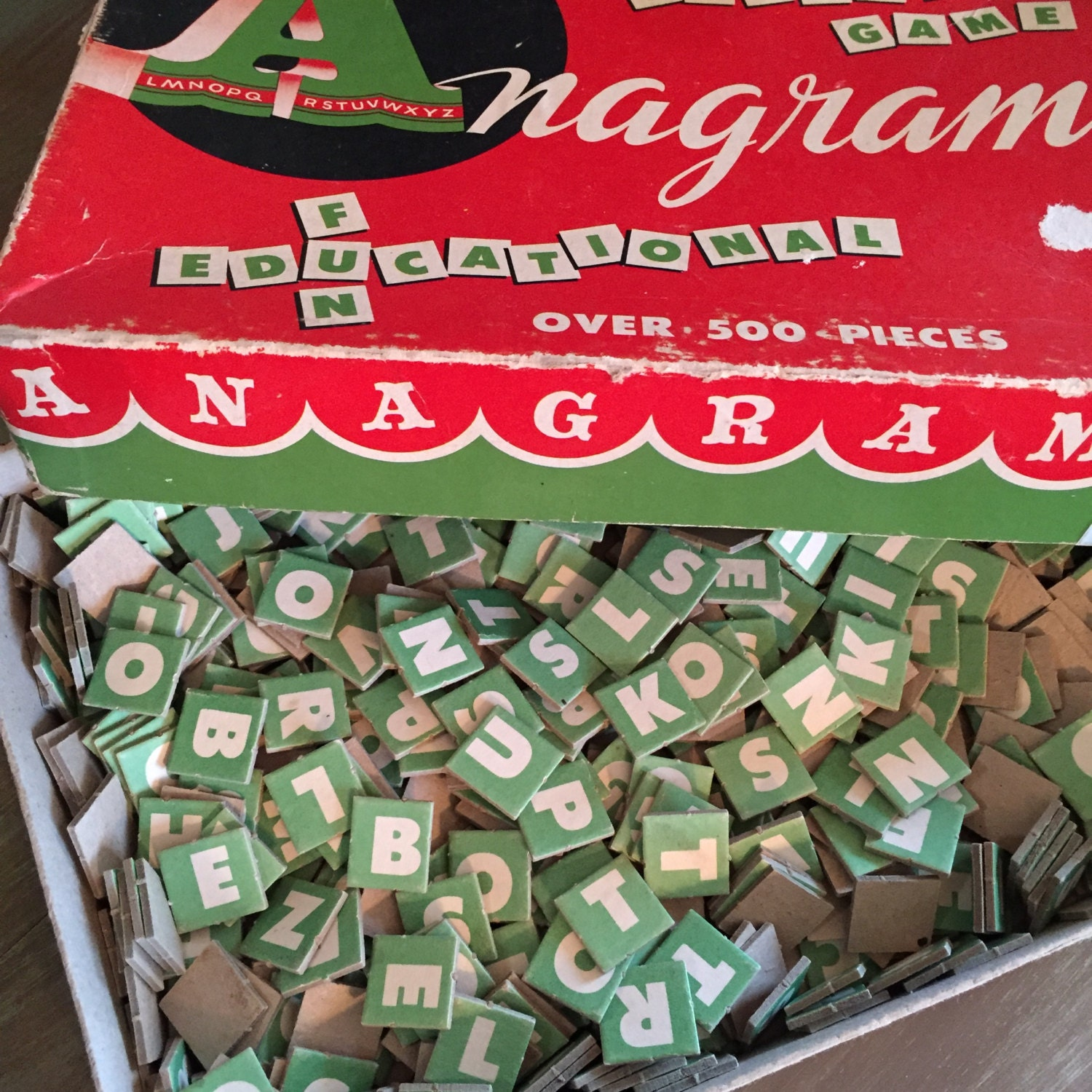 Green Anagram  Letters