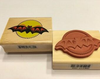 Bat Halloween rubber stamp , 50 x 35 mm (HR3)
