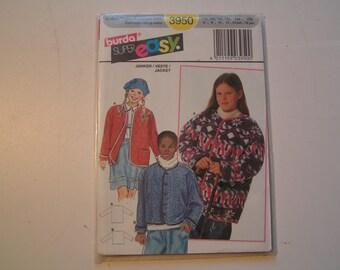 Burda Pattern super easy 3950 Girl Jacket