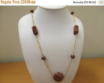 On Sale Vintage Italian Glass Station Necklace Item K # 1624