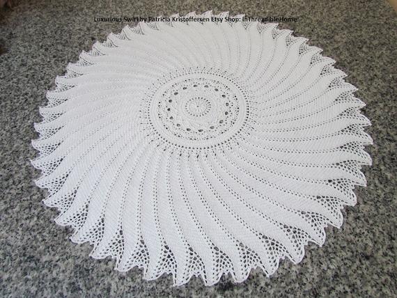 Luxurious Swirl Large Crochet Tablecloth Crochet Doily