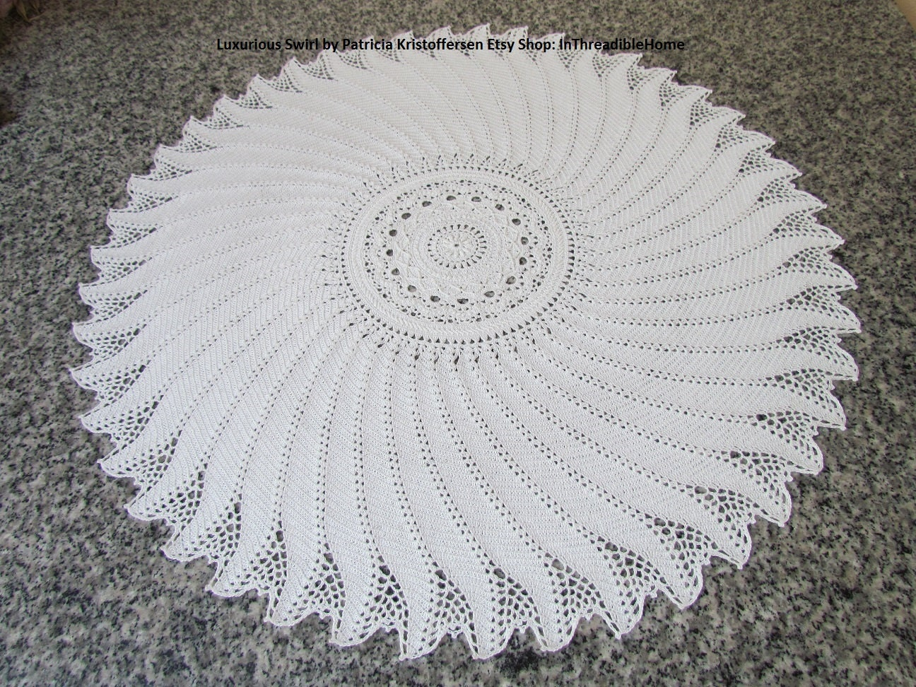 Luxurious Swirl Large Crochet Tablecloth Crochet Doily Pdf