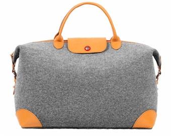 Weekend Bag Wool Felt Travelling Bag Storage Bag Handbag Shoulder Bag Wool Felt Tote School Bag