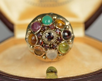Late Victorian beautiful multi stone Harem ring