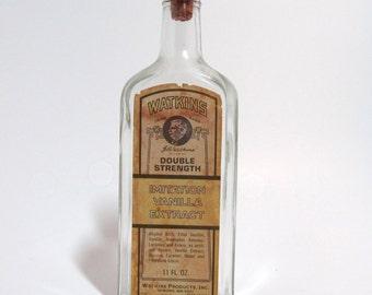 Antique Vintage Watkins Vanilla Extract Cork Bottle Made in USA