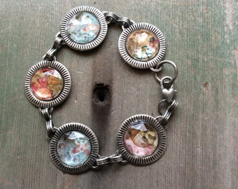 Floral Bouquet Bracelet/Boho/Cottage Chic