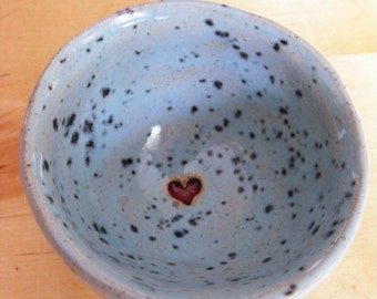 Little red heart dipping pot