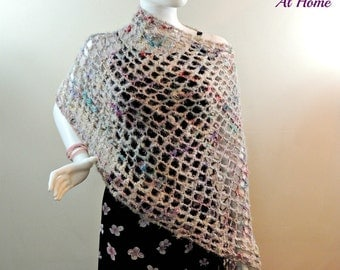 Unique crochet mesh poncho related items Etsy