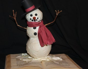 Do You Want to Build a Snowman?  Book Sculpture