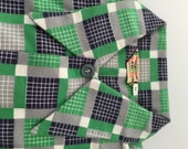 1950s Vintage BOYS FLANNEL SHIRT Deadstock American Sportshirt Plaid Design Size 12
